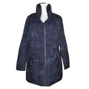 NWT MICHAEL Michael Kors Navy Camo Anorak Jacket, Sz XL